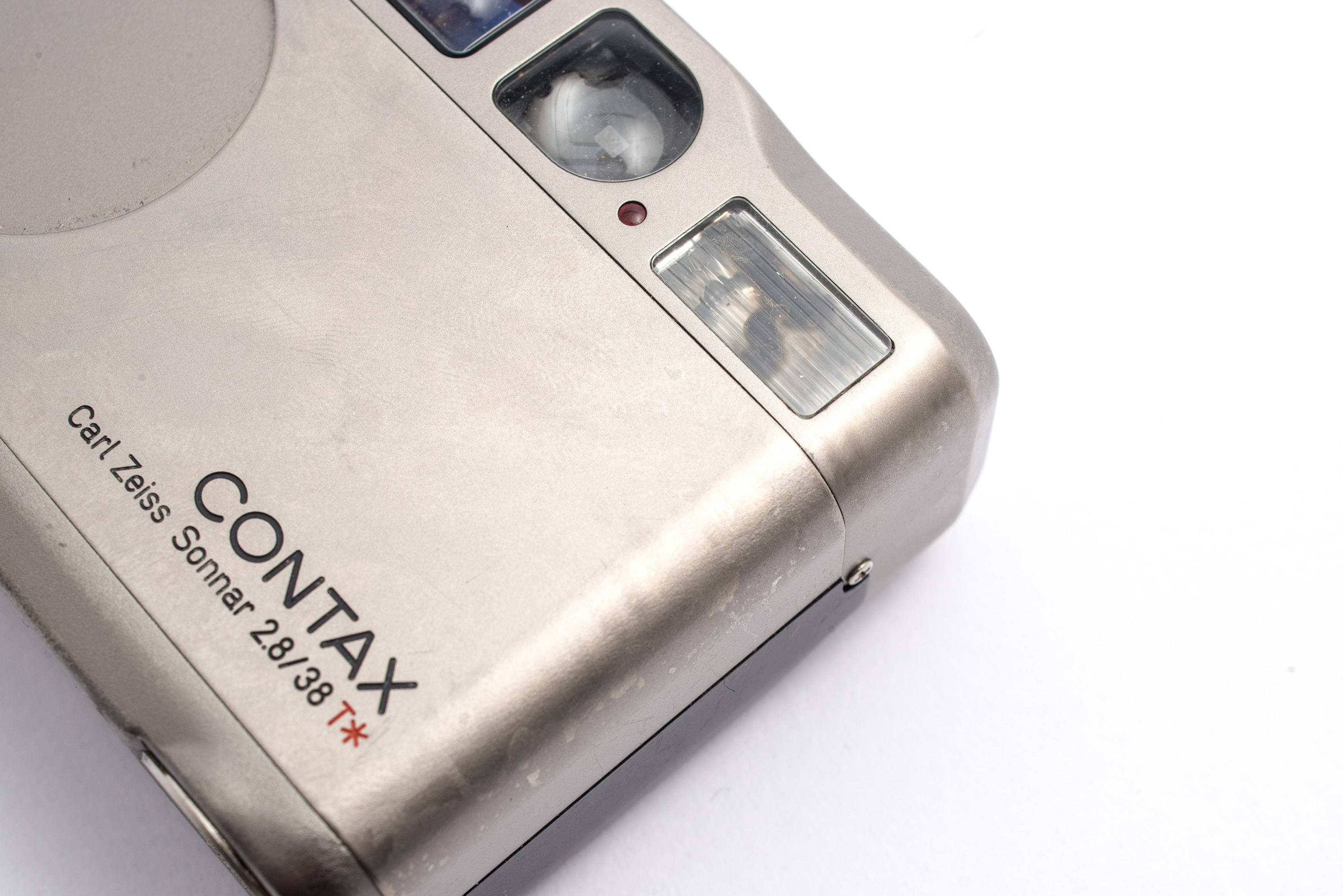 Contax T2 viewfinder shot