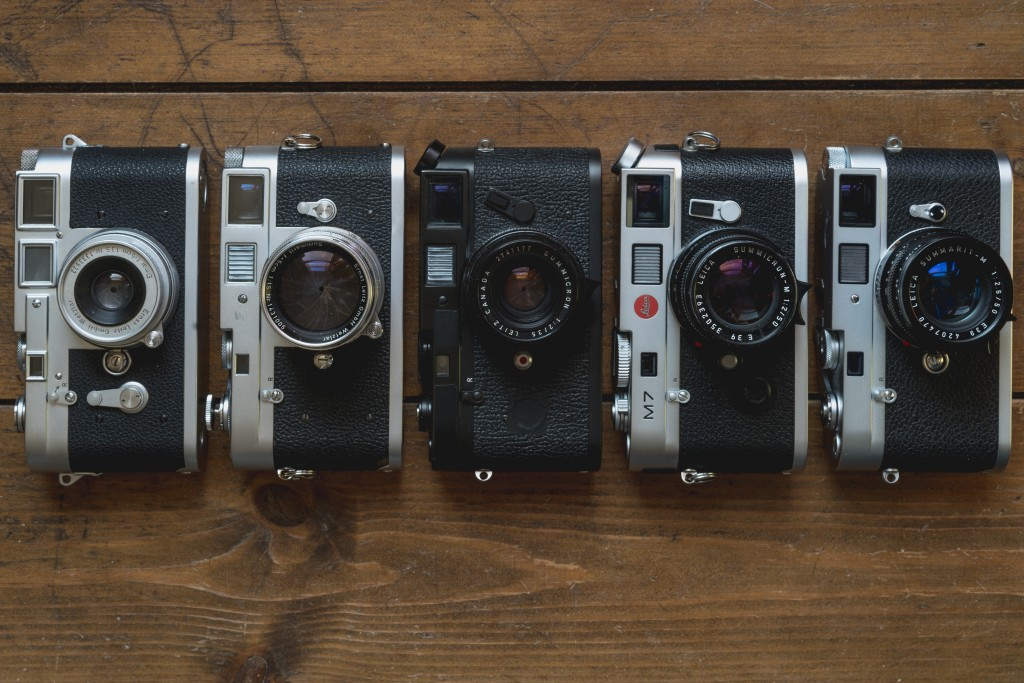 Leica M2, M3, M4-P, M7 and M-A