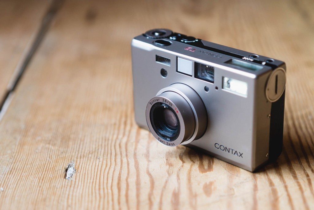 Contax T3 - Lens extended