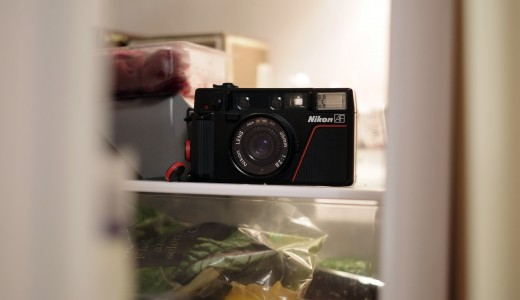 A Nikon L35AF in the fridge