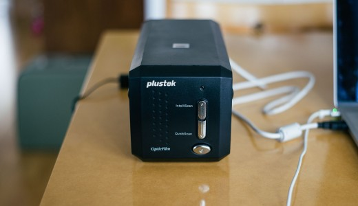 Front view of Plustek scanner