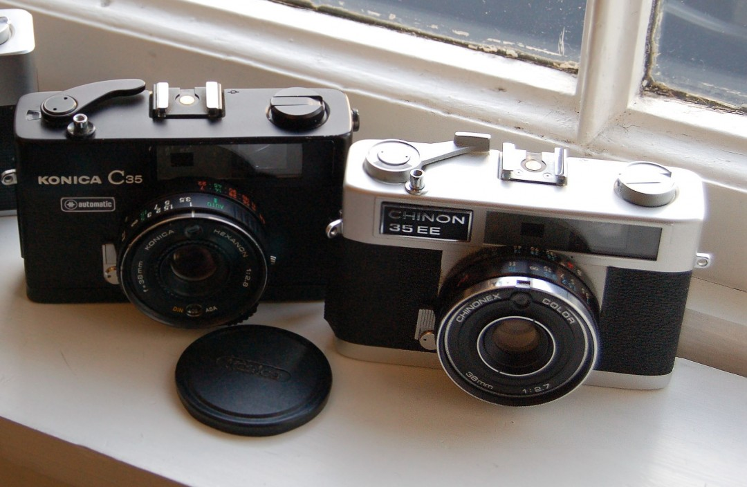 Konica C35 Automatic & Chinon 35EE