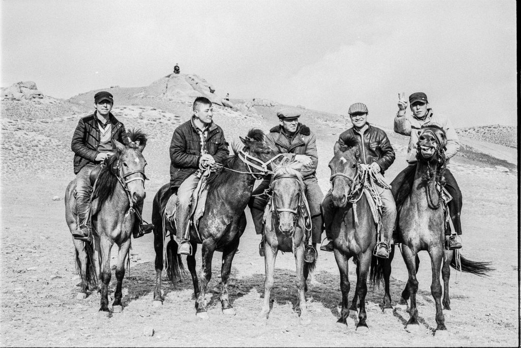 Men on horseback in Mongola
