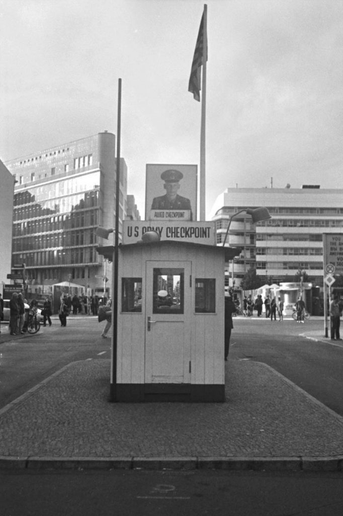 Berlin checkpoint Berlin photographed with the Minox 35GT