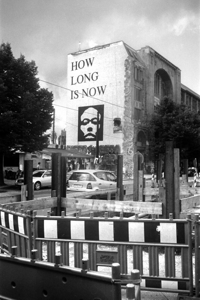 Berlin how long is now street art photographed with the Minox 35GT
