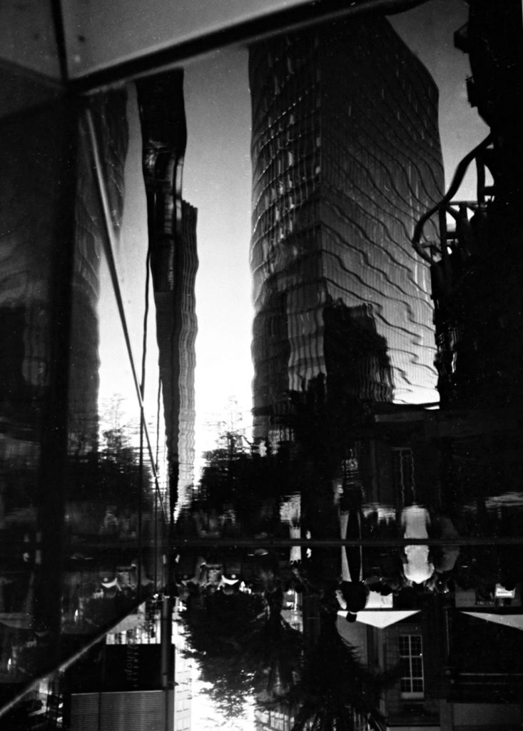 street reflections photographed with the Minox 35GT