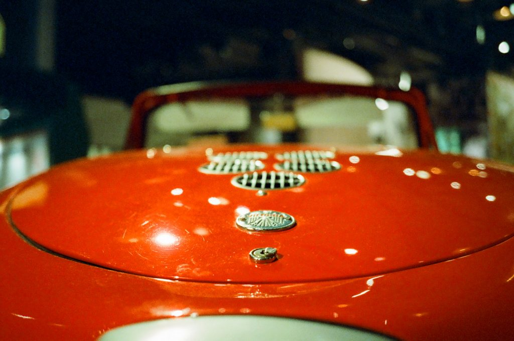detail of red car