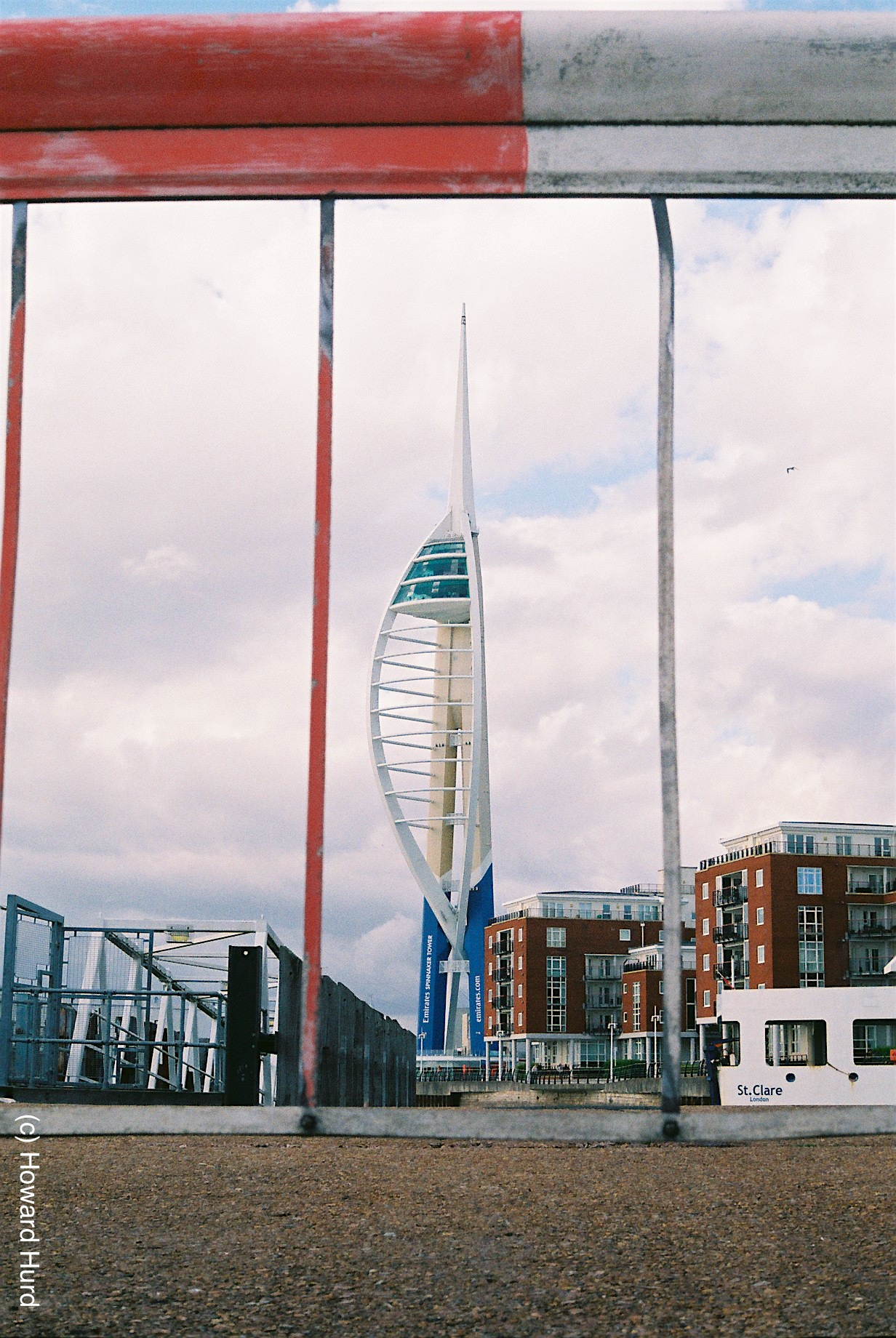 View of the Spinnaker Tower, Portsmouth, UK - taken with Fed4 and Agfa VistaPlus at ISO200