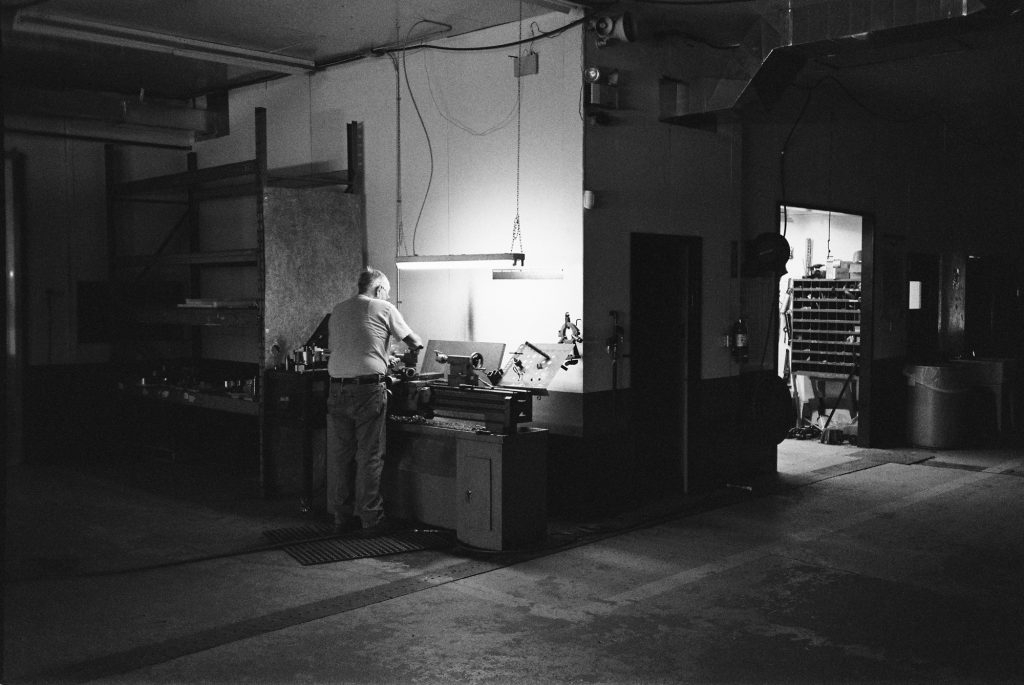 Richard In The Shop - TMax 400. Possibly my favourite from the roll.