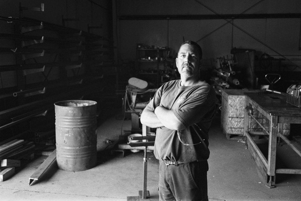 Alan In The Shop, TMax 400
