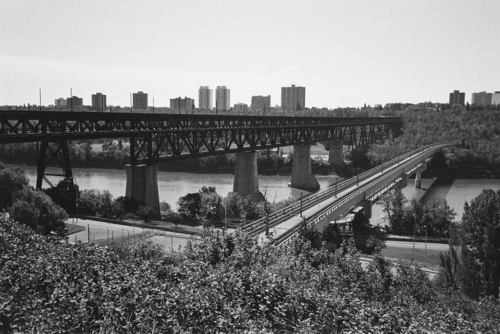 The High Level and Low Level Bridges, Edmonton - Tmax 400