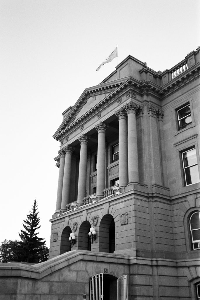 "The ""Ledge"", Alberta Legislature Building, Edmonton - TMax 400"