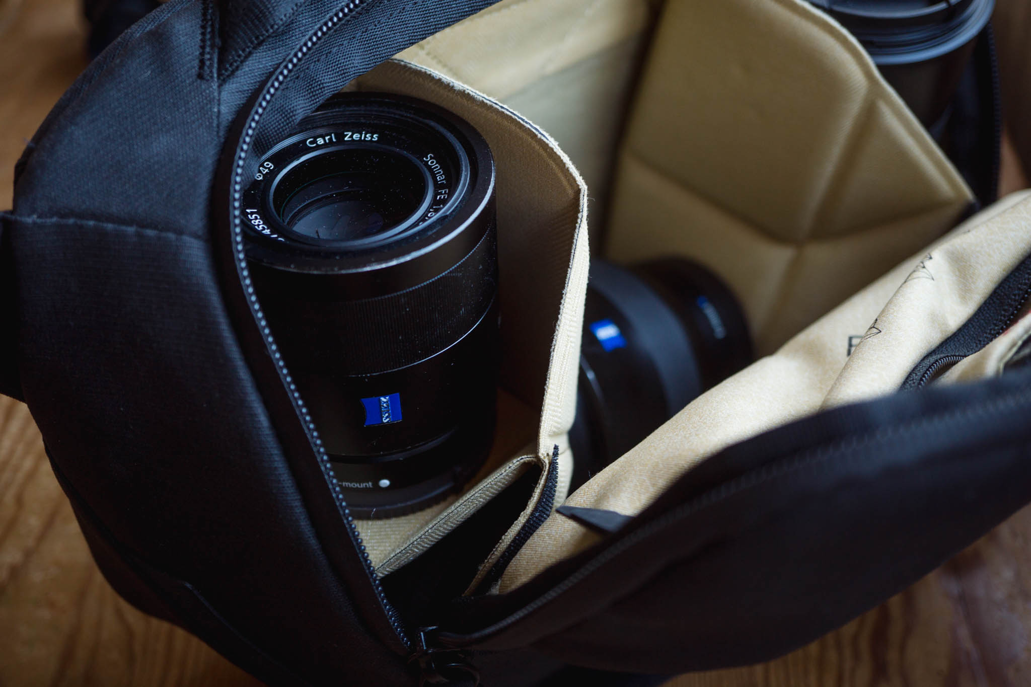 Stacked lenses in the Everyday Sling 5L