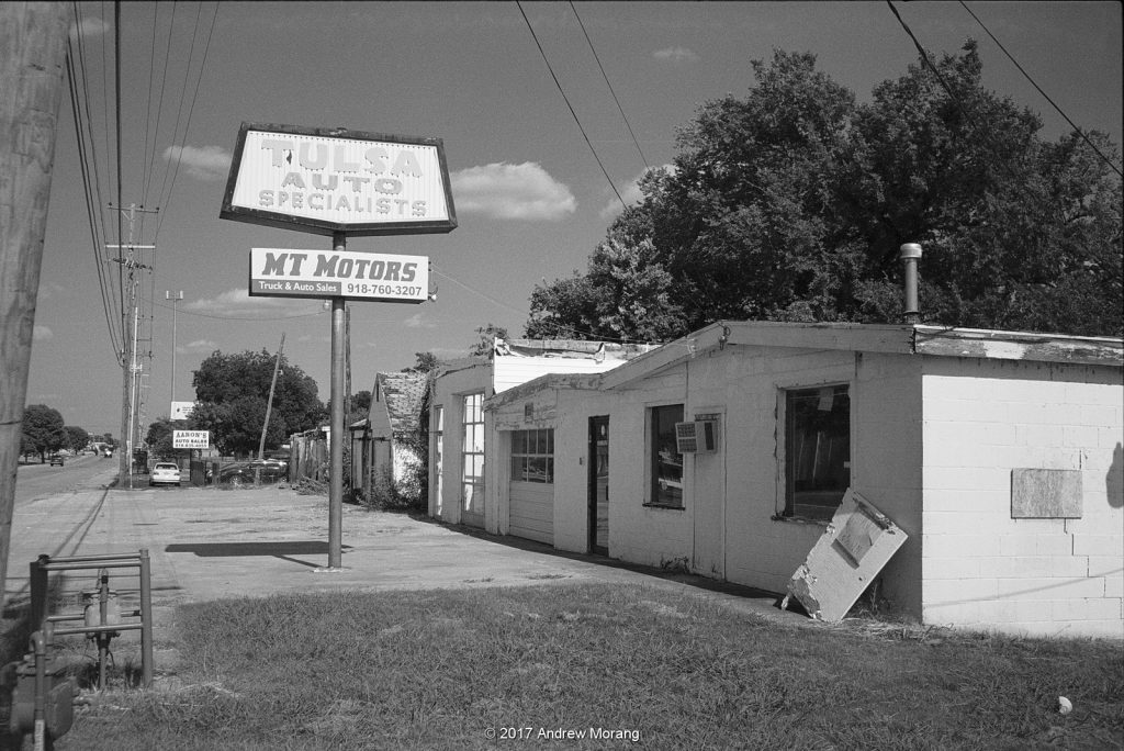 Route 66 Tulsa Oklahoma photographed with Olympus Trip 35