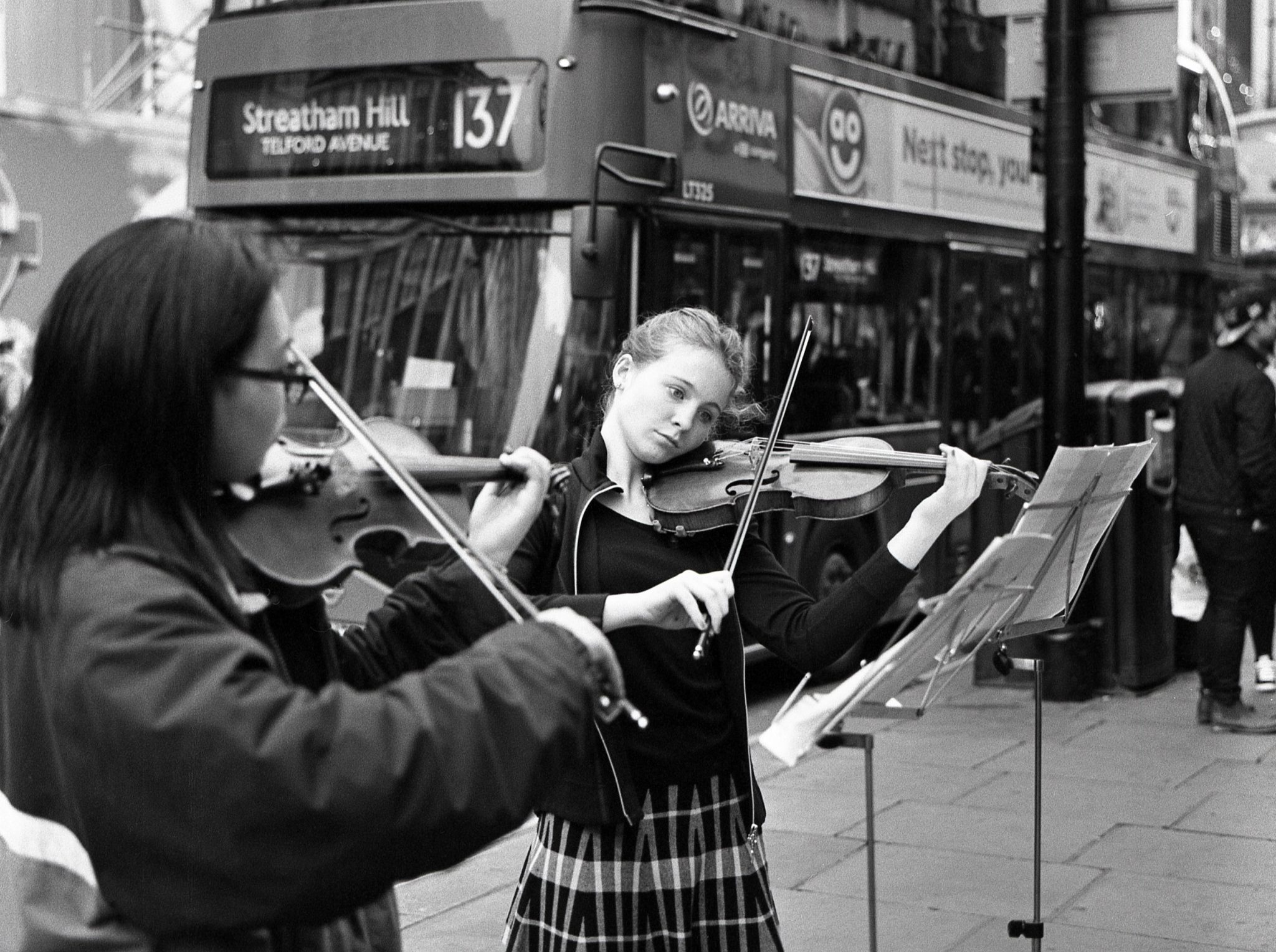 Violinists on Kodak Tri-X