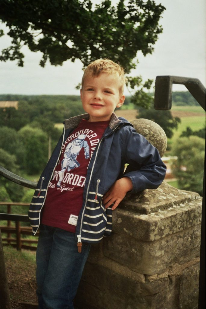 Grandson at Warwick Castle
