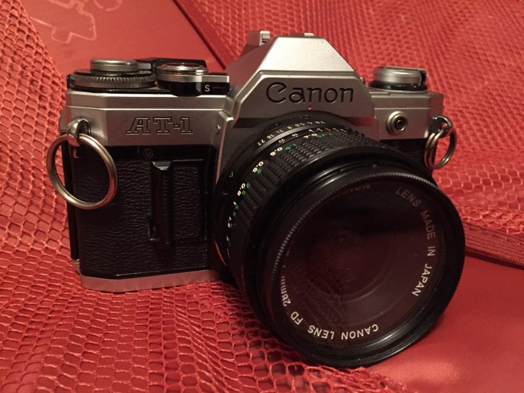 Canon AT-1 with 28mm lens.