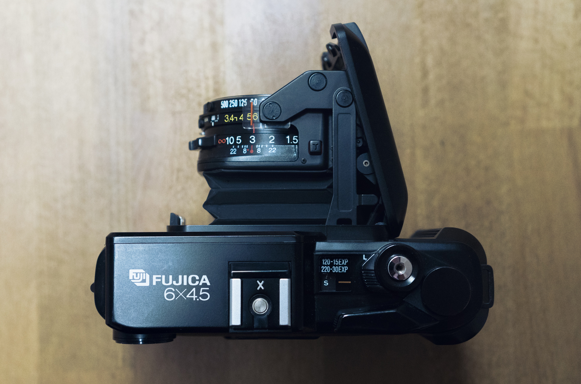 Fujica GS645 top
