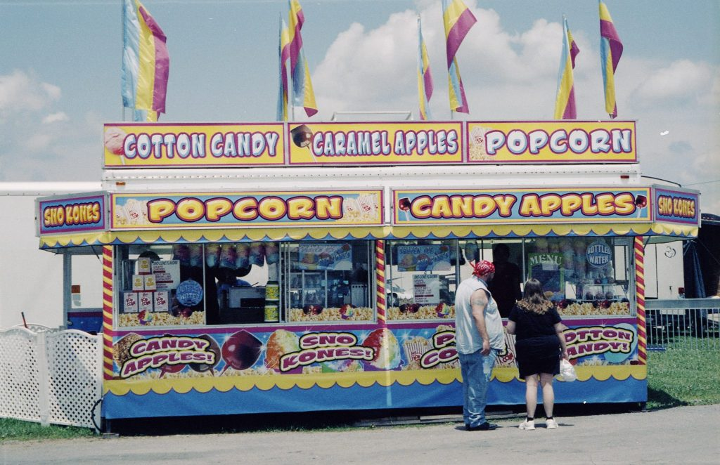 Rollei Prego 70 photo carnival food stand popcorn