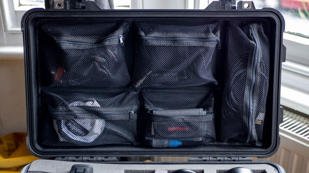 Peli 1510 Protector case Fully loaded Lid Organiser