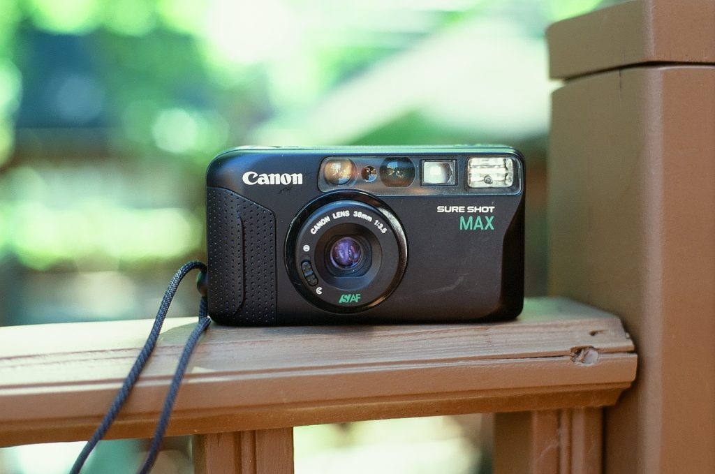 Canon Sure Shot Max front view