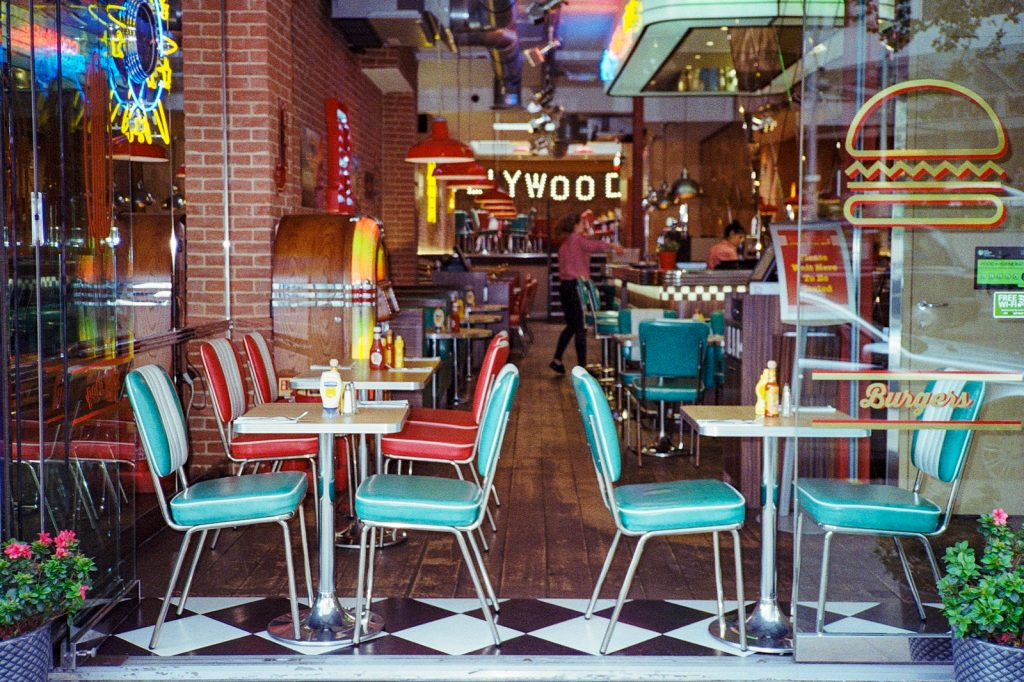 Canon SureShot Autoboy AF35MII photo of diner chairs