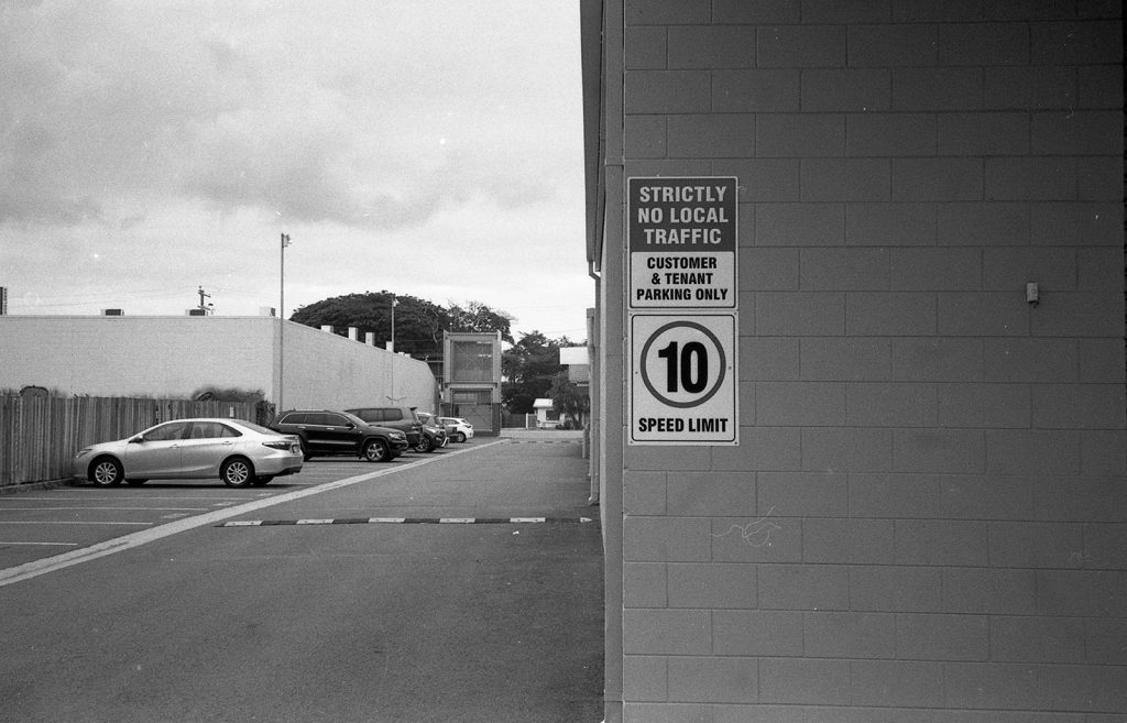 photo of parking area made with Ricoh Shotmaster Zoom Super Date