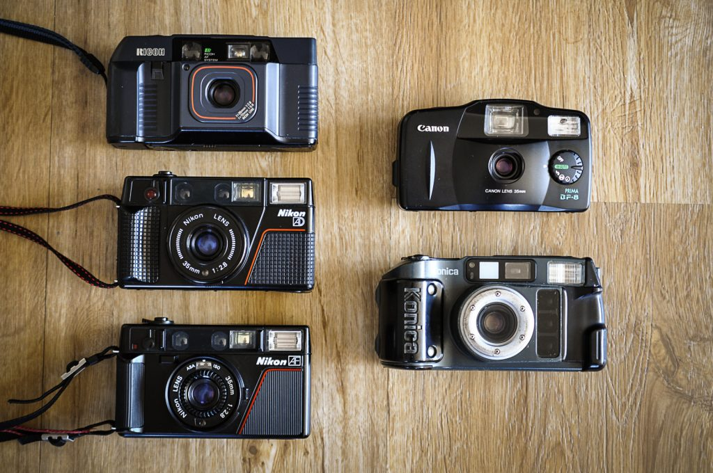 Different types of point-and-shoot cameras