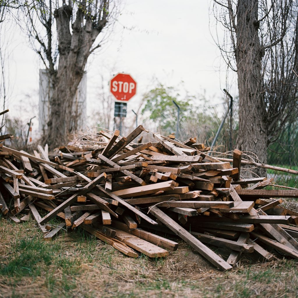 Wooden waste taken with a Hasselblad medium format camera on 6x6 negative.