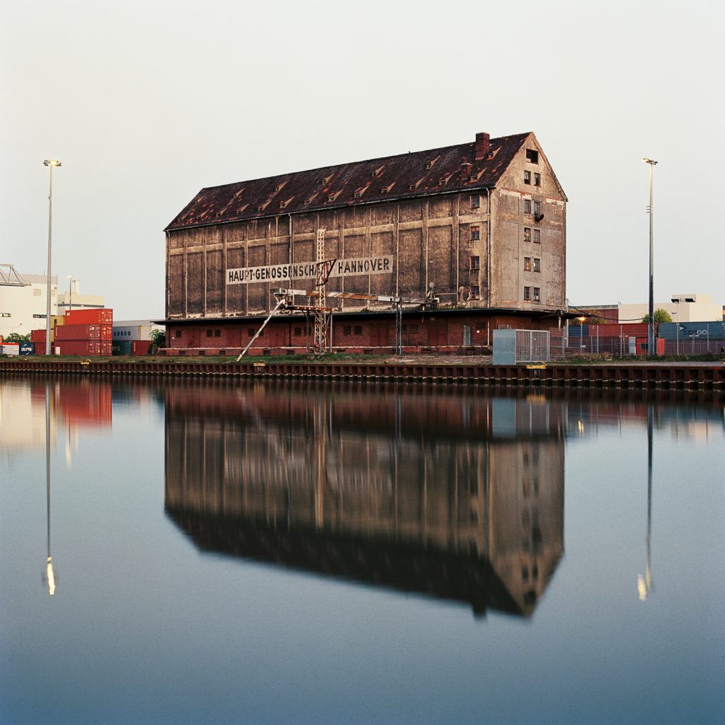 Old warehouse taken with a Hasselblad medium format camera on 6x6 negative.