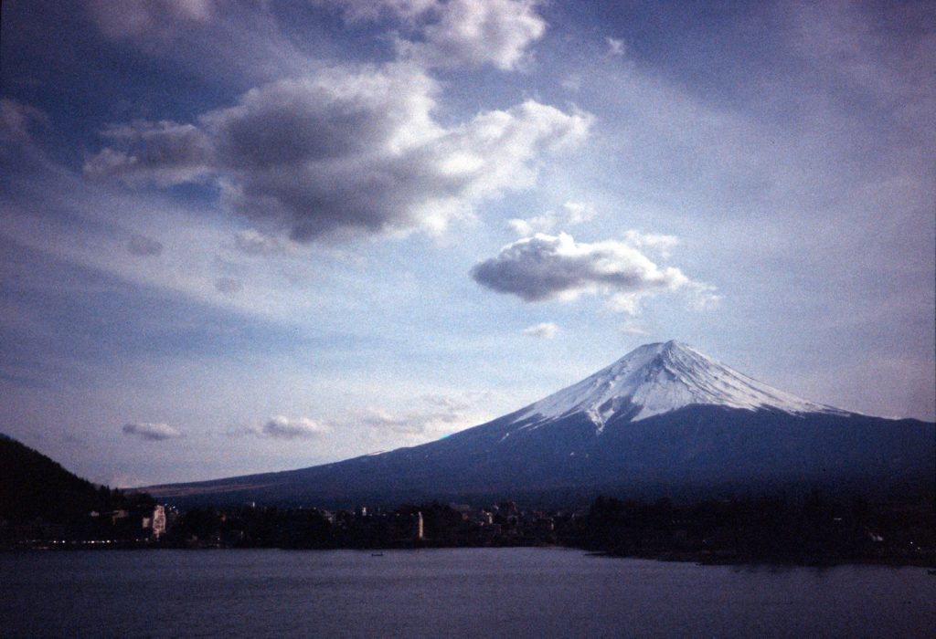 Mount Fuji with the Contax TVS on Fuji Sensia 400