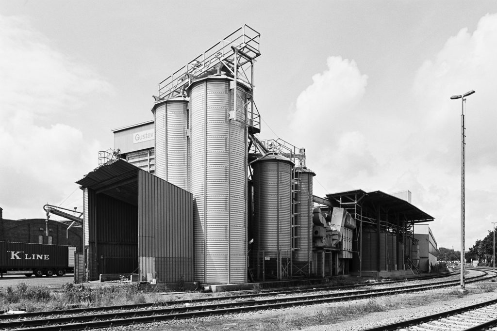 Facility of an impoter/exporter at Bremen ports shot on Fuji Acros black-and-white film.