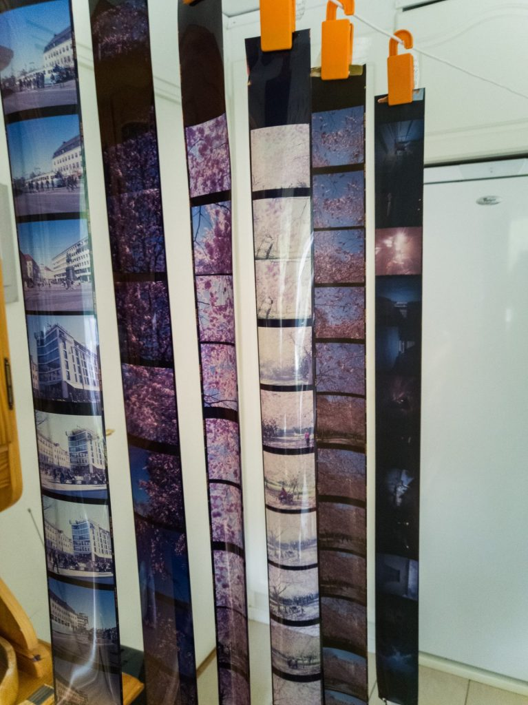 Developed slide films