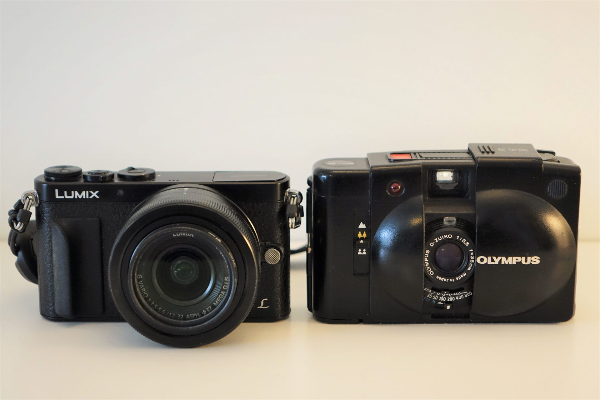 Panasonic GM1 and Olympus XA2