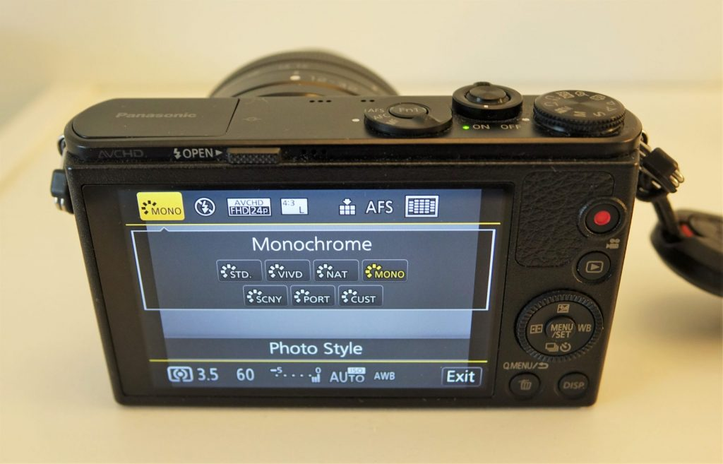 Panasonic GM1 rear screen