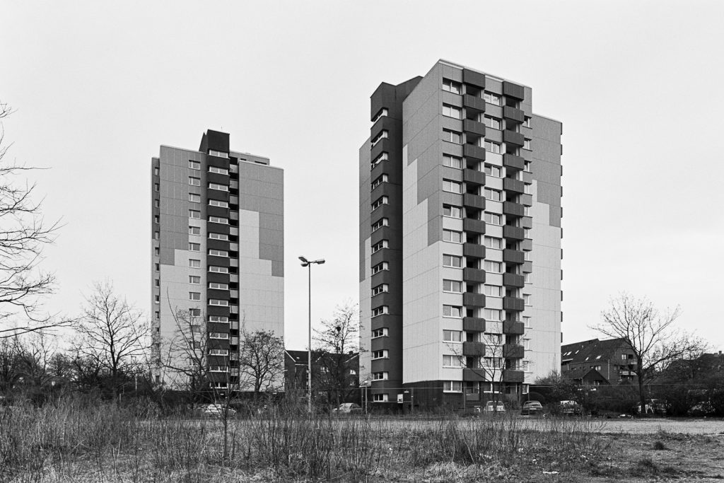 Apartment towers at Hainholz.