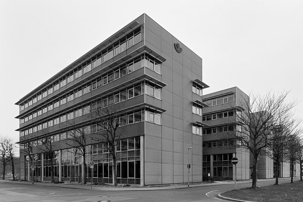 Modern office buildings located at Bult quater in Hannover, Germany.