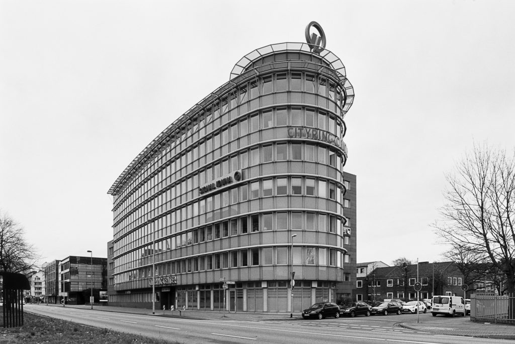 Signal Iduna office building, located at Vahrenwalder Strasse in Hannover, Germany.