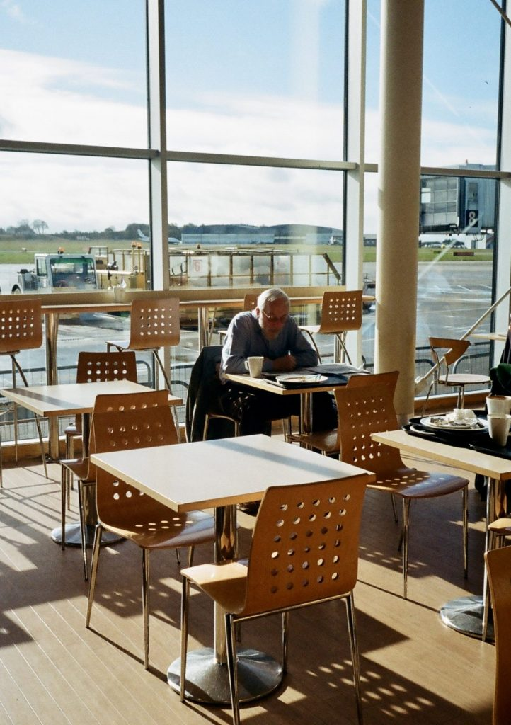 Prague airport cafe with the Olympus Pen EE-3