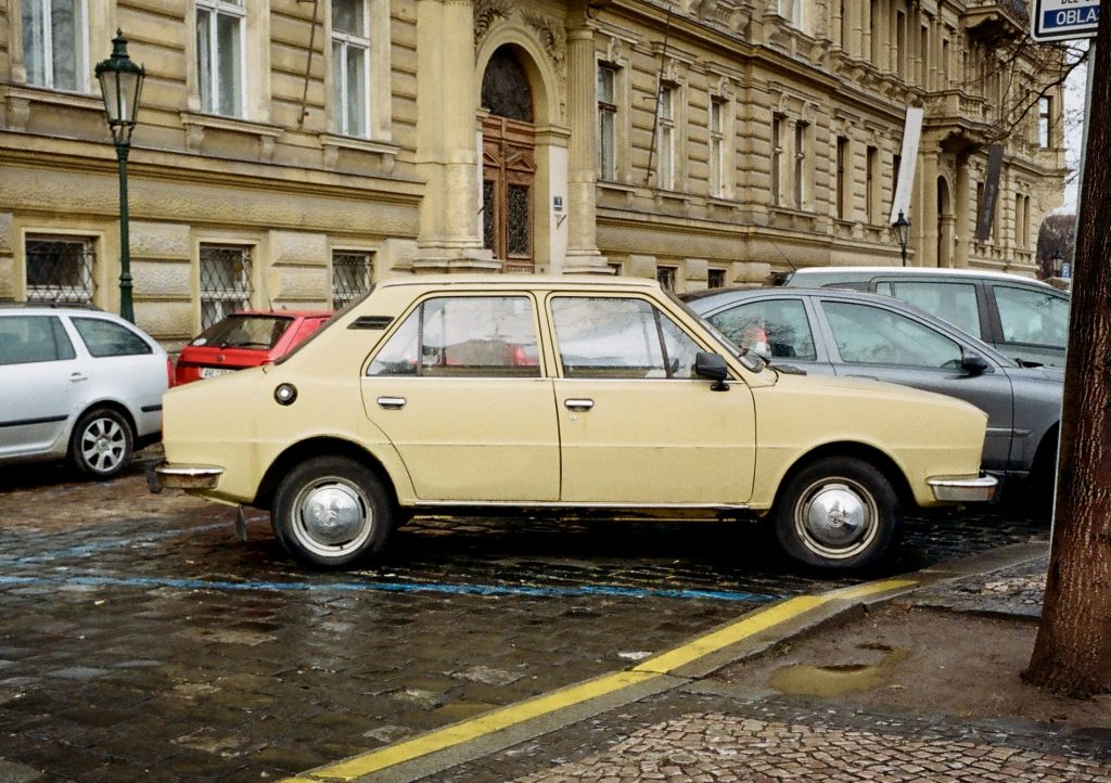 Cars in Prague with the Olympus Pen EE-3