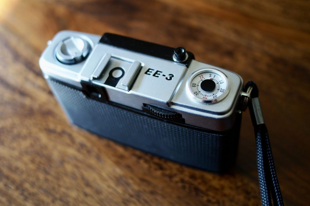 Olympus Pen EE-3 camera top view