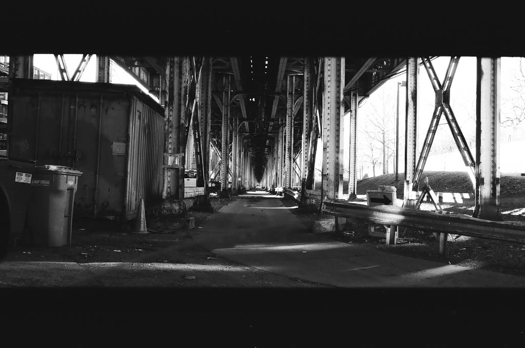 Pentax ZX5n photo of Chicago cat elevated tracks