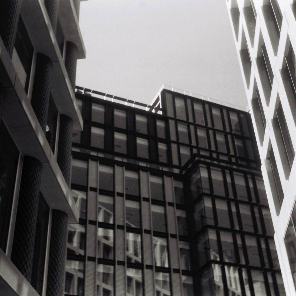 London buildings 5 Frames with an AGFA Isolette
