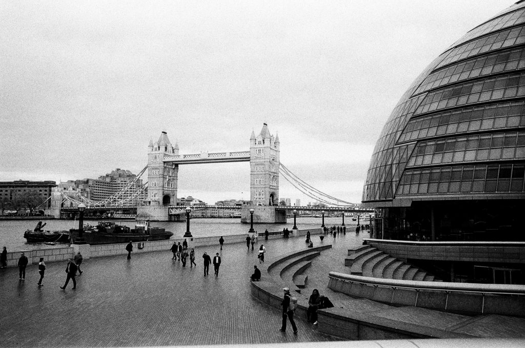 Alternate view of City Hall and Tower Bridge