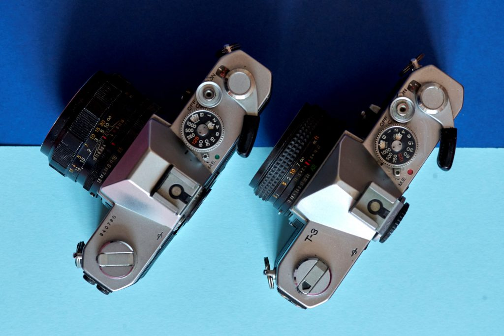 View of T3n and T3 cameras from above