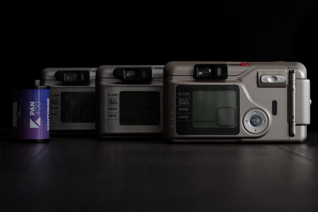 LCD screen of Fujifilm Zoom Date cameras