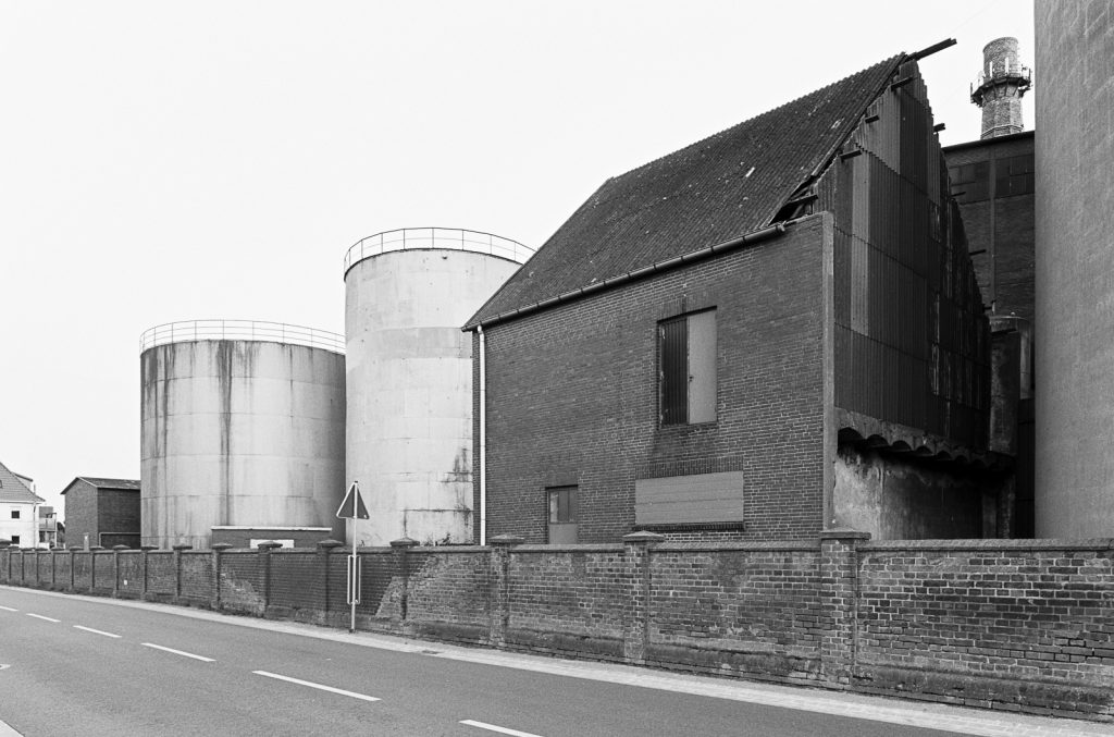 Oil tanks and machine house of the abandoned factory in Weetzen, Germany.