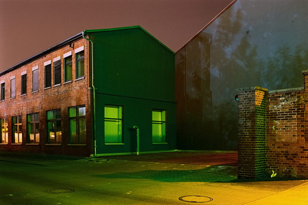 Long-time exposure of a factory building