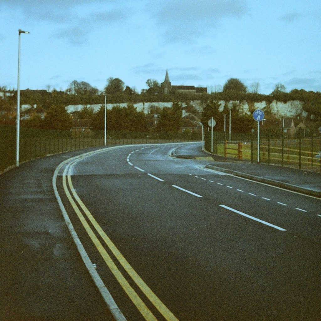 empty road with new tarmac