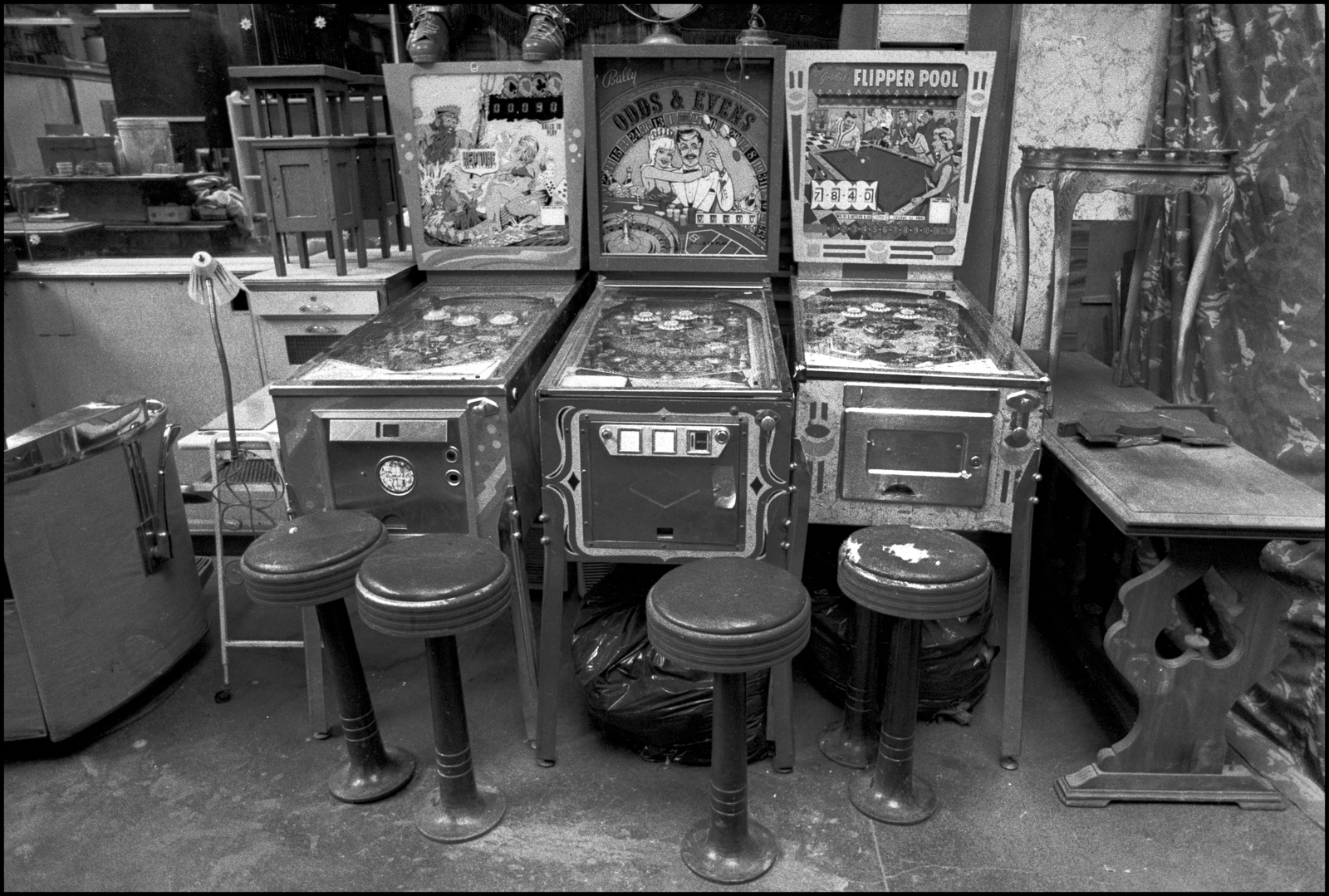 Pinball Machines Coney Island 1982